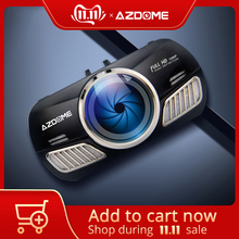 AZDOME DVR Parking-Monitor Car-Camera Dashcam Gps Ips-Screen Dual-Lens 3inch Night-Vision