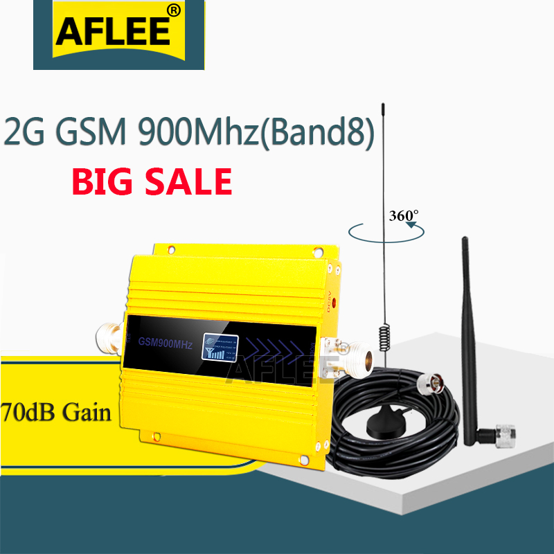 Mini LCD GSM 900Mhz 2G Repeater UMTS 3G Mobile Phone Signal Booster Repeater Cellular Signal Gsm 900 2g Amplifier Sucker Antenna