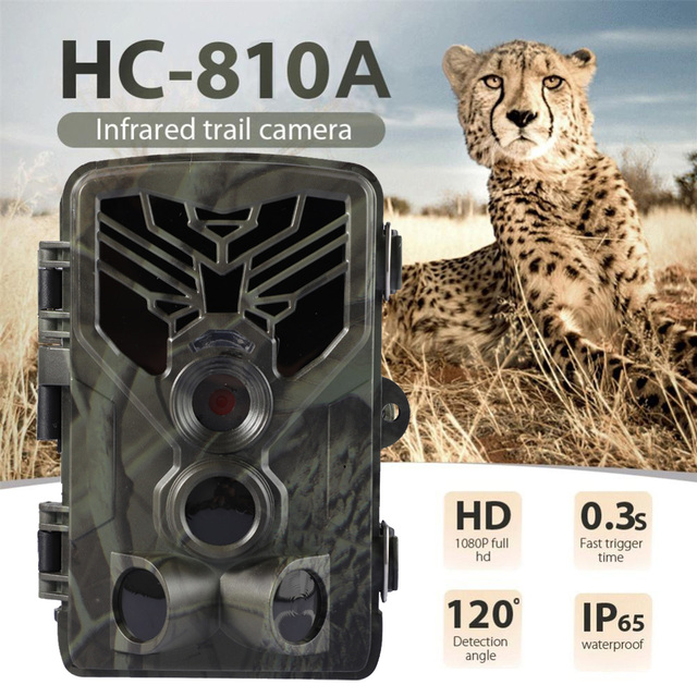 HC-810A 1080P 20MP HD Hunting Wildlife Camera Scouting Trail Camera Wildview 3 PIR Motion Night Vision Camera Home Safe Game Cam
