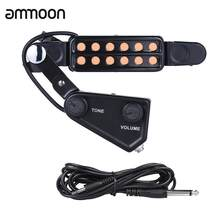 Звукосниматель для акустической гитары с 12 отверстиями Магнитный преобразователь с регулятором громкости тона аудио кабель Запчасти и акс...