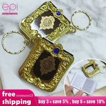 EPI มุสลิมอิสลาม MINI จี้ Keychains Key แหวนสำหรับอัลกุรอาน Ark Quran หนังสือกระดาษจริงสามารถอ่านขนาดเล็กเครื่องประดับทางศาสนา