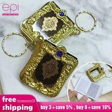 Epi 이슬람 이슬람 미니 펜던트 열쇠 고리 코란 방주 꾸란 도서 진짜 종이 작은 종교 보석을 읽을 수 있습니다