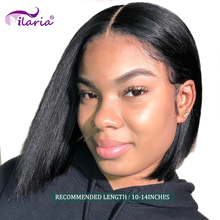ILARIA BOB Lace Front Human Hair Wigs For Black Women Brazilian Remy Hair Short Lace Frontal Wigs With Baby Hair Natural Color