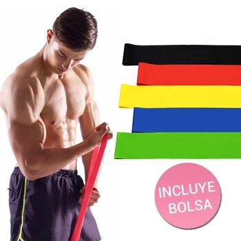 Bandas elásticas de resistencia para ejercicio en casa, accesorios para deporte en casa, 5 unidades