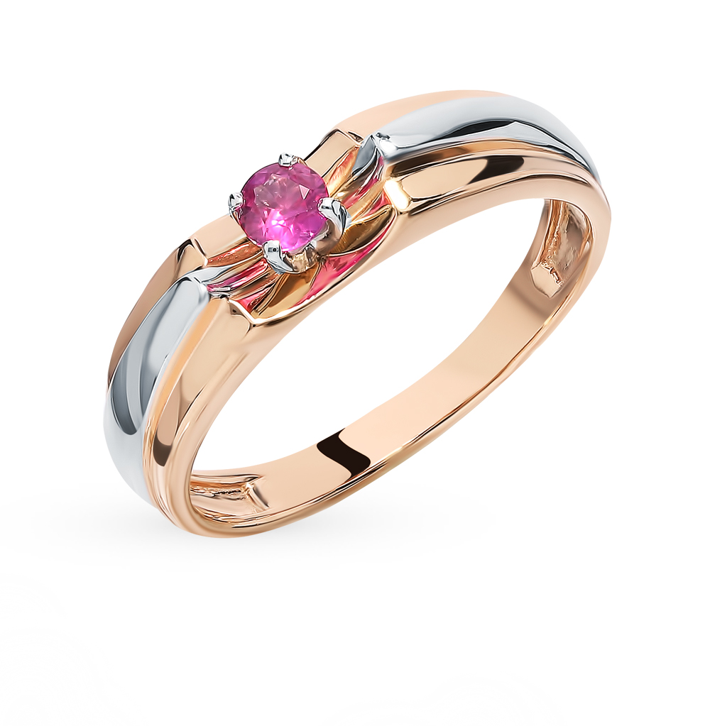Gold Ring With Ruby SUNLIGHT Test 585