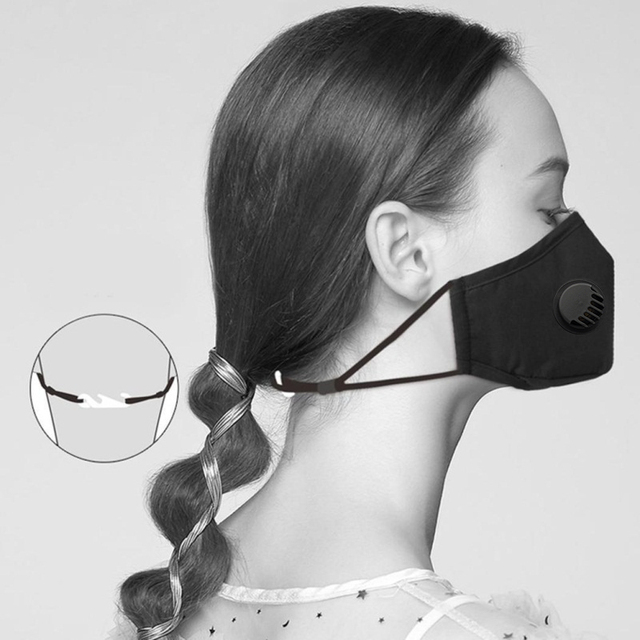 PM2.5 Activated Carbon Face Breath Valve Masks Reusable Breathable Cotton Protective Mouth Mask Anti Flu Dust Masks Comfortable 5