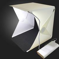 Portable Folding Led  Mini Photographic lamp Light Tent Portable Light Box Photography Kit with LED Light (20x20cm)  Backdrops