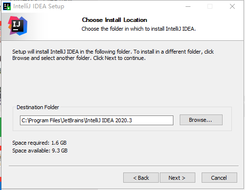 IDEA 2020.3.1安装第一步