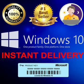 2021 Microsoft  Windows 10 Pro Key Professional 32/64bit Activation License Code Key  License Global Key