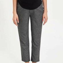 DeFacto Модные женские осенние льняные брюки для беременных, Женские Повседневные Удобные Свободные укороченные брюки с эластичной талией-M3046AZ19WN