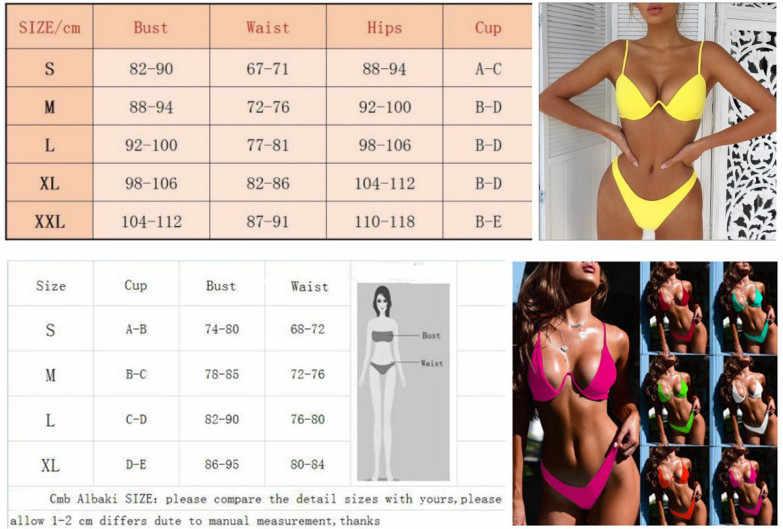 انخفاض الشحن مثير رفع غير مبطن البرازيلي مجموعة البكيني النساء 4 ألوان ضمادة مجموعة البكيني ملابس السباحة مثلث ملابس السباحة الاستحمام