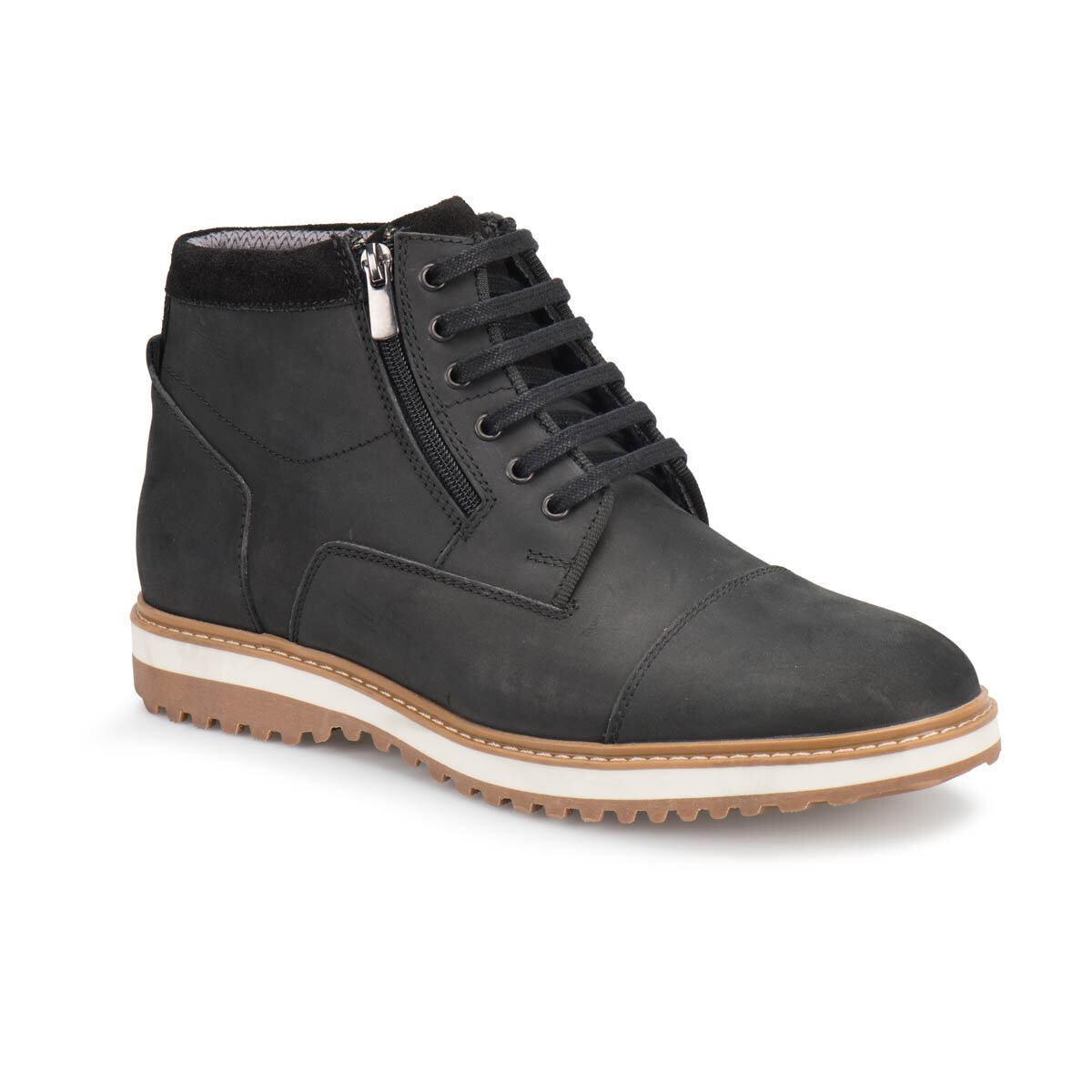 FLO 238 Black Men Boots Forester