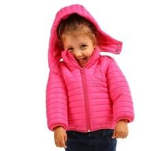 Ebebek HelloBaby/детское пуховое пальто; куртка с капюшоном на молнии с длинными рукавами; однотонная Рождественская одежда для малышей; vestidos; коллекция года; зимнее теплое пальто