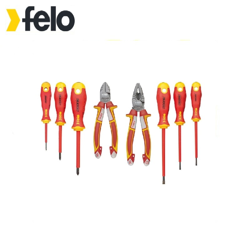 Felo Set of dielectric screwdrivers Ergonic with dielectric pasatis and side cutters in a package, 8 pcs 41398517 deposition of zinc oxide by dielectric barrier discharge