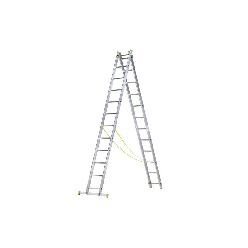 Aluminum Ladder 2 Sections 12 + 12 Rungs