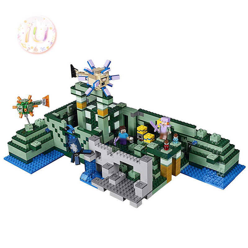 BELA 10734 My Worlds Series The Ocean Monument Building Blocks Brick Birthday Gift Toys For Children 1136Pcs Compatible 21136