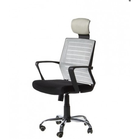 Swivel Chair Gas Arms With Grid Gray.