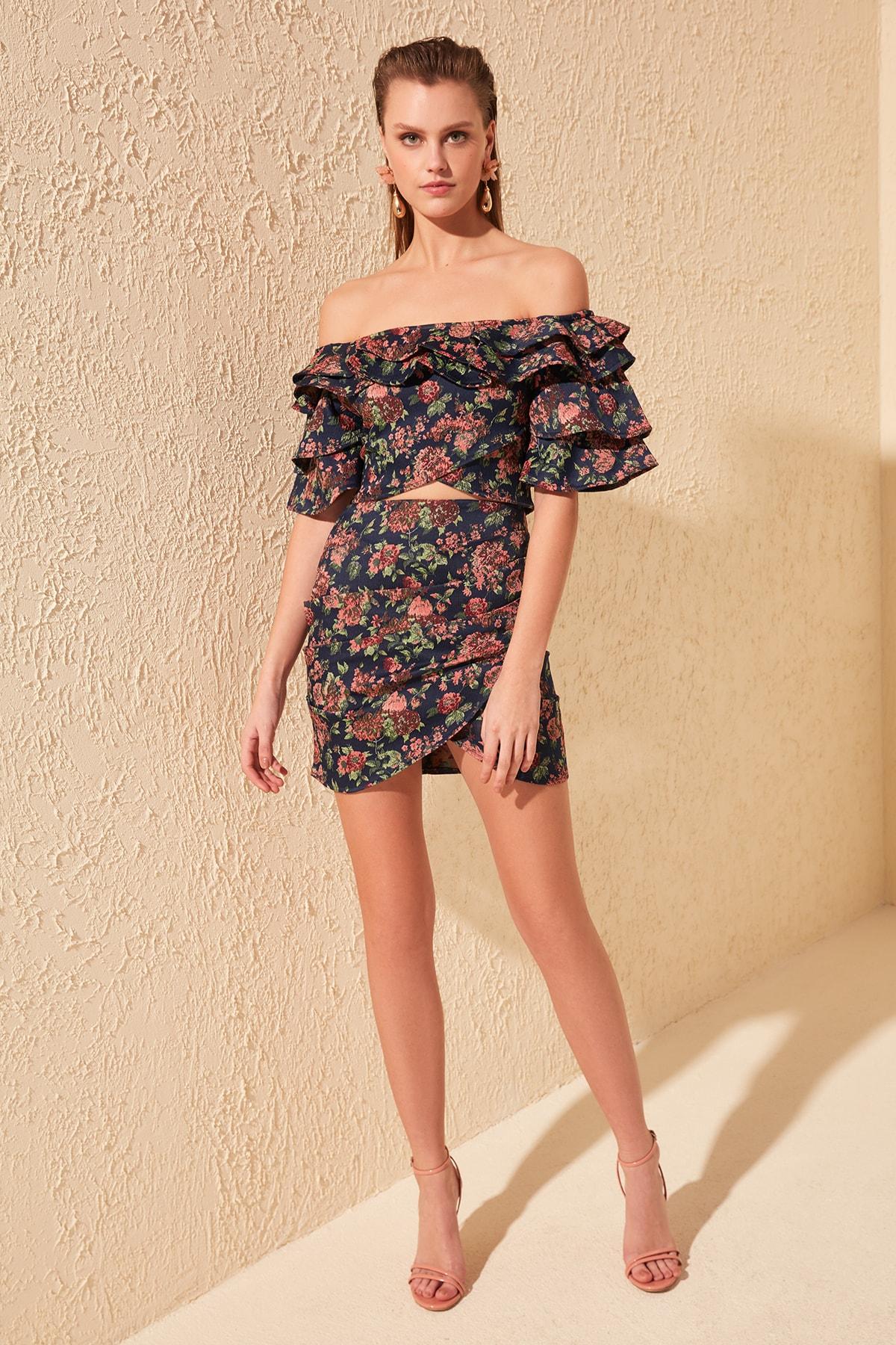 Trendyol Drapeli Skirt TPRSS20ET0142