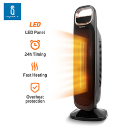Aigostar Apollo 33LCF - PTC Ceramic Fan Heater  4 Power Modes for Hot & Natural Wind  2200W  Adjustable Thermostat.