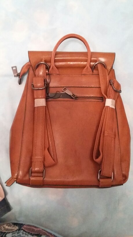 Retro Leather Backpack photo review