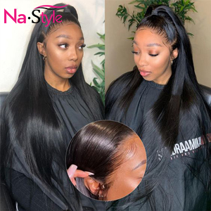 Image 3 - 13x4 Lace Front Human Hair Wigs For Black Women 250% Long Straight Human Hair Wig Pre Plucked With Baby Hair Natural Hairline