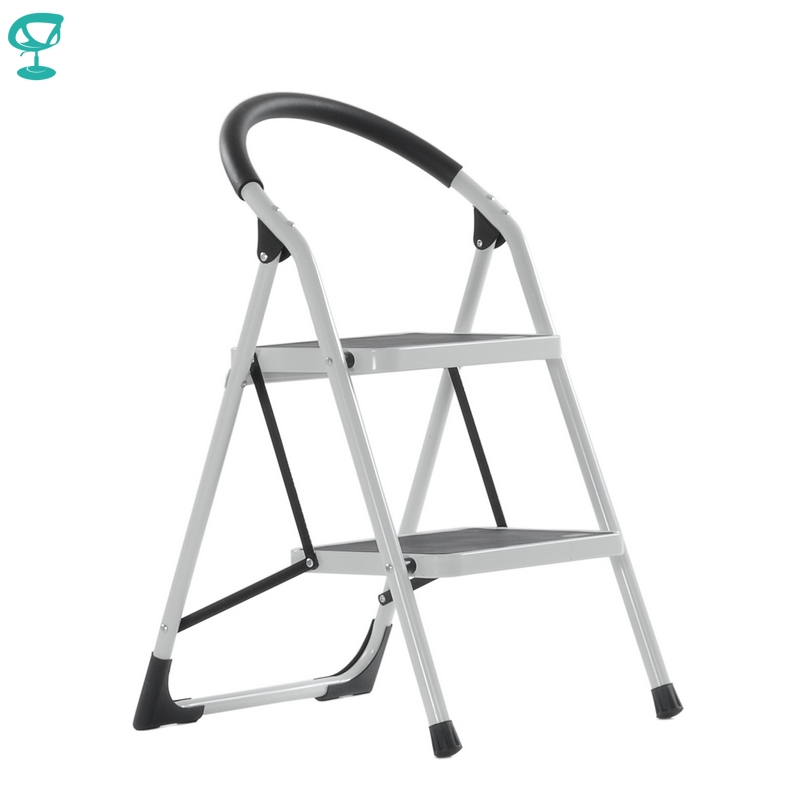 95665 Barneo ST-32 Ladder Steel 2 Stage White Single Side Max Load 150 Kg Free Shipping To Russia