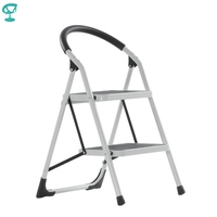 95665 Barneo ST 32 Ladder Steel 2 stage White single side max load 150 kg free shipping to Russia