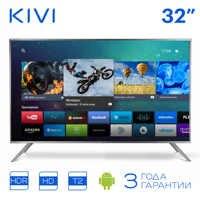 """TV 32 """"KIVI 32HR52GR HD Smart TV Android HDR 32 pouces numérique DVB DVB-T DVB-T2"""