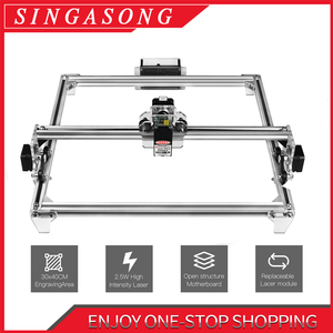 mini laser cutting machine 2500mw 5.5w laser head DIY laser machine laser engraver 2500mw Wood cutting PWM(China)