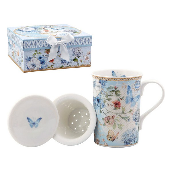 Cup With Tea Filter 116229 Butterfly Blue