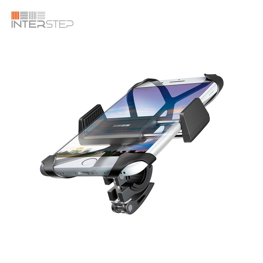 Bicycle holder smartphone INTERSTEP, rotate 360 degrees, Black princess degrees