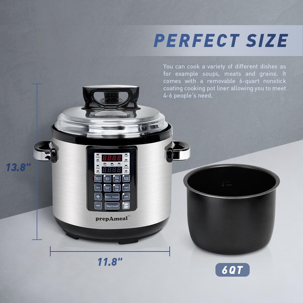 6 Qt Electric Pressure Cooker 10-in-1 Multi-Use Programmable Pressure Cooker Rice  Stew Soup Porridge Cake Maker 3