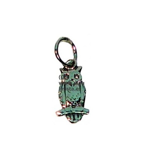 AMULETS SILVER OWL SMALL