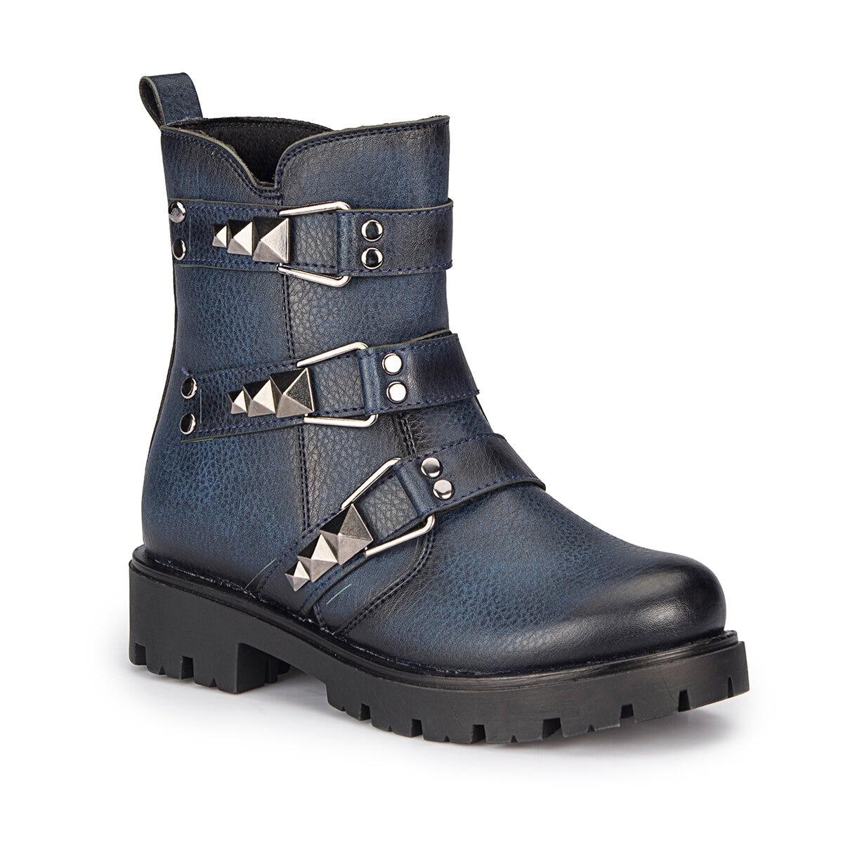 FLO DUKE Navy Blue Female Child Sandals PINKSTEP Boots     - title=