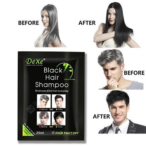 New!!! Black Shampoo. Black Hair Shampoo Dexe. Stop седина!