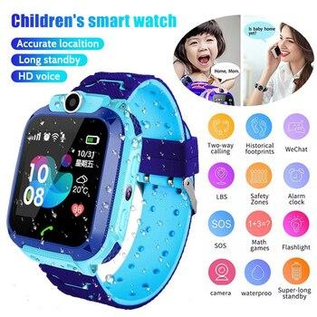 Q12B ילדי של חכם שעון טלפון עמיד למים £ Smartwatch ילדים מיצוב אנטי איבד מרחוק מצלמה שיחת 2G SIM כרטיס בנים בנות