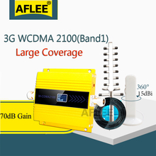 AFLEE Set Gain 70dB (LTE Band 1) 2100 UMTS Mobile Signal Booster 3G (HSPA) WCDMA 2100MHz 3G UMTS Cellular Repeater Amplifier atnj 3g wcdma 2100 cell phone signal amplifier band 1 umts 3g wcdma signal repeater 70db gain lcd display agc alc 3g booster set