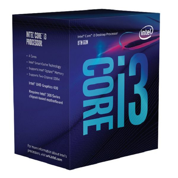 Processor Intel Core™ I3-8100 3,6 Ghz 6 MB LGA 1151 BOX