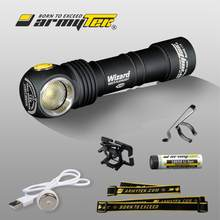 Lampe de poche Armytek assistant v3 XP-L aimant USB torche Rechargeable 18650 Li-Ion batterie incluse(China)