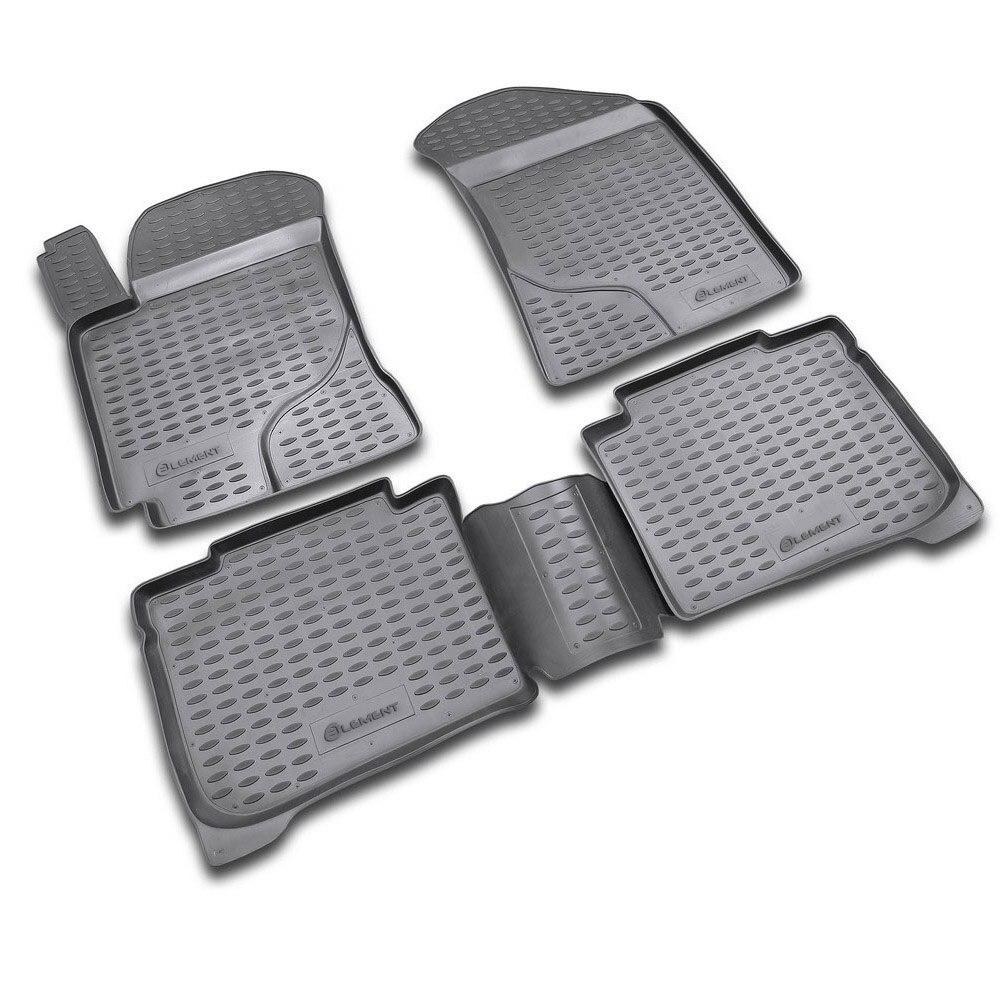 Floor Mats For KIA Cerato 2004-2009, 4 Pcs Free Shipping (gray) NLC.25.11.211