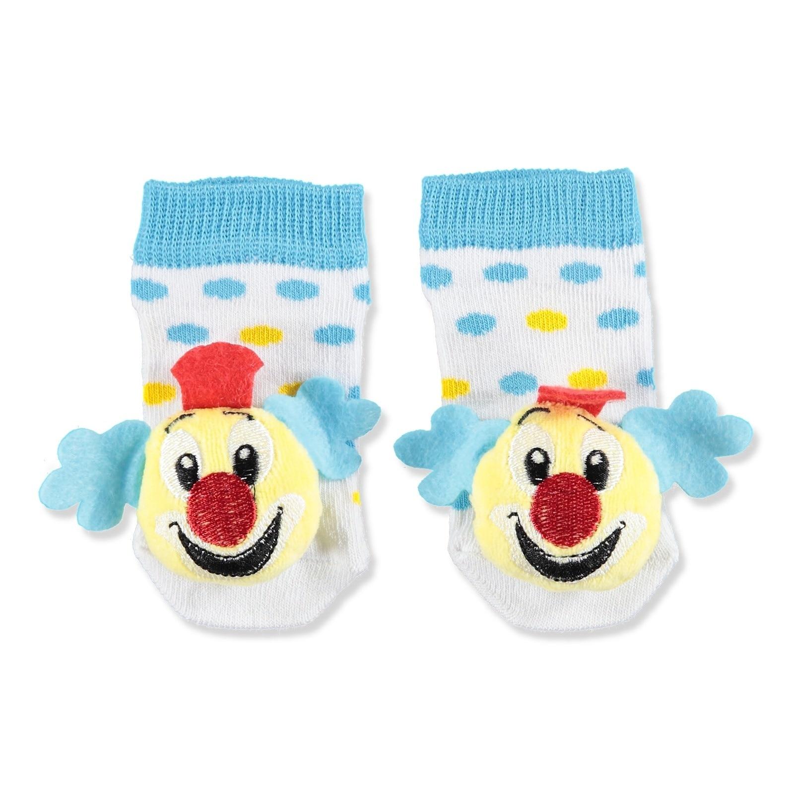 Ebebek Funny Patik Rattle Baby Socks