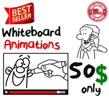 I will create engaging whiteboard animation explainer video