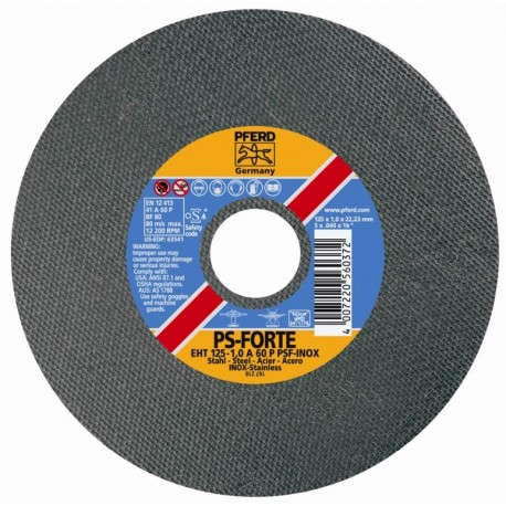 CUTTING DISC STAINLESS PFERD EHT 125-1. 0 A60 P PSF-INOX