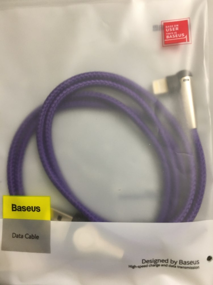 Baseus Lighting USB Cable For iPhone XS Max XR X 8 7 6 6S SE 5 Fast Charging Charger Wire Cord 90 Degree Data Mobile Phone Cable-in Mobile Phone Cables from Cellphones & Telecommunications on AliExpress