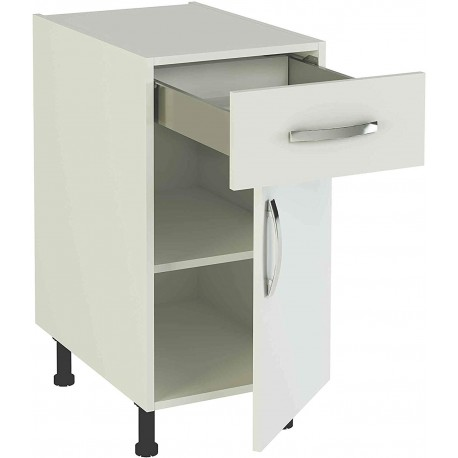 Kitchen Furniture Low 40 With 1 Drawer And 1 Door In Various Colors