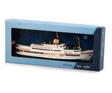 Istambul bosphorus navio doméstico modelo maquette baris manco navio nostálgico tradicional 23 cm vintage istambul navio steambot presente