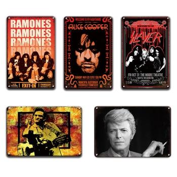 Johnny CASH metal poster tin sign vintage Rock N Roll plaque pub bar man cave signs Living Room Home wall decor