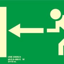 PVC signal exit left luminescent 32X16 CM