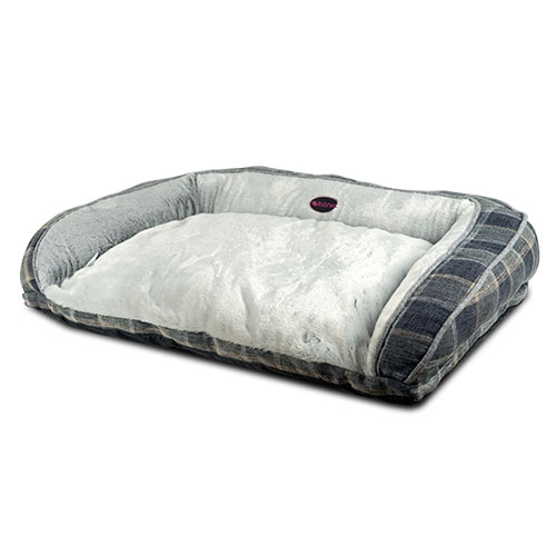 Sofa bed for dogs or cats Greys Plaid image