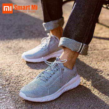100% Original Xiaomi You Pin FREETIE Men's Shoes City Sports Light Breathable Knitting City Running Sneaker for Outdoor Sports original xiaomi mijia freetie ultra light running shoes men s city sneaker air mesh breathable eva sole stylish casual shoes